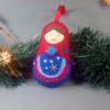 Felted Doll Ornament