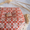 cross stitch artnouveo biscornu pincushion