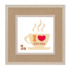 Coffee cup cross stitch pattern