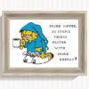 Funny morning cat cross stitch pattern