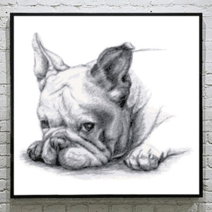 Bulldog Puppy Cross Stitch Pattern