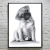 Baby Pug Cross Stitch Pattern