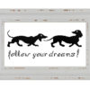 Dog dachshund cross stitch pattern