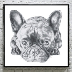 French Bulldog Cross Stitch Pattern