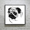 Pug Face Cross Stitch Pattern