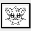 Halloween bat cross stitch pattern