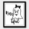 Bootiful Ghost Cross Stitch Pattern