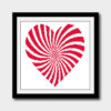 abstract heart cross stitch pattern