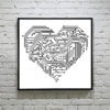Hi-Tech Heart cross stitch pattern