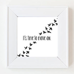 It is time to move on cross stitch pattern