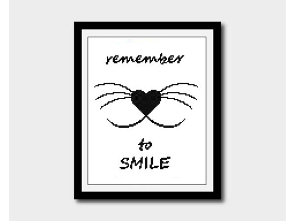Remember to smile cross stitch pattern