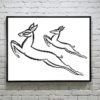 Gazelles cross stitch pattern