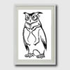 Owl silhouette cross stitch pattern