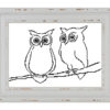 Simple owls couple cross stitch pattern
