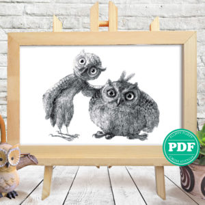 Two Owls Photo