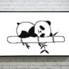 Sleeping Baby Panda Cross Stitch Pattern