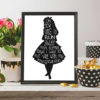Alice in wonderland cross stitch pattern