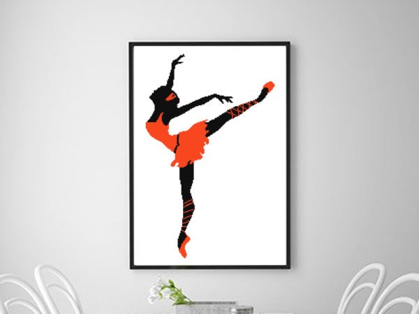Ballet cross stitch pattern