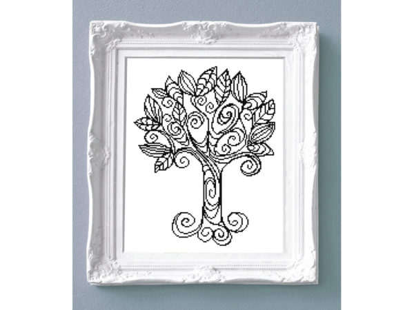 Tree cross stitch pattern