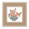 Flowers in vase cross stitch pattern