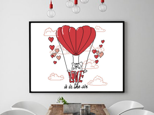 love is in the air cross stitch pattern