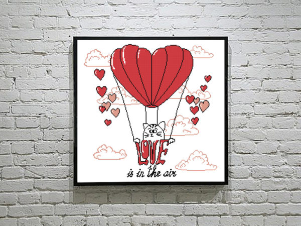 love-is-in-the air cross stitch pattern